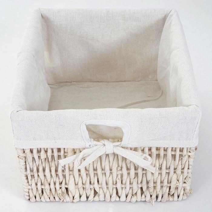 leiterregal goiana regal standregal mit 4 korbschubladen 101x30cm shabby look vintage wei. Black Bedroom Furniture Sets. Home Design Ideas