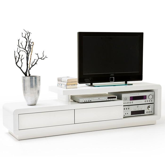 mca tv rack celia lowboard fernsehtisch mit schubladen hochglanz wei 45x170x40cm wei. Black Bedroom Furniture Sets. Home Design Ideas