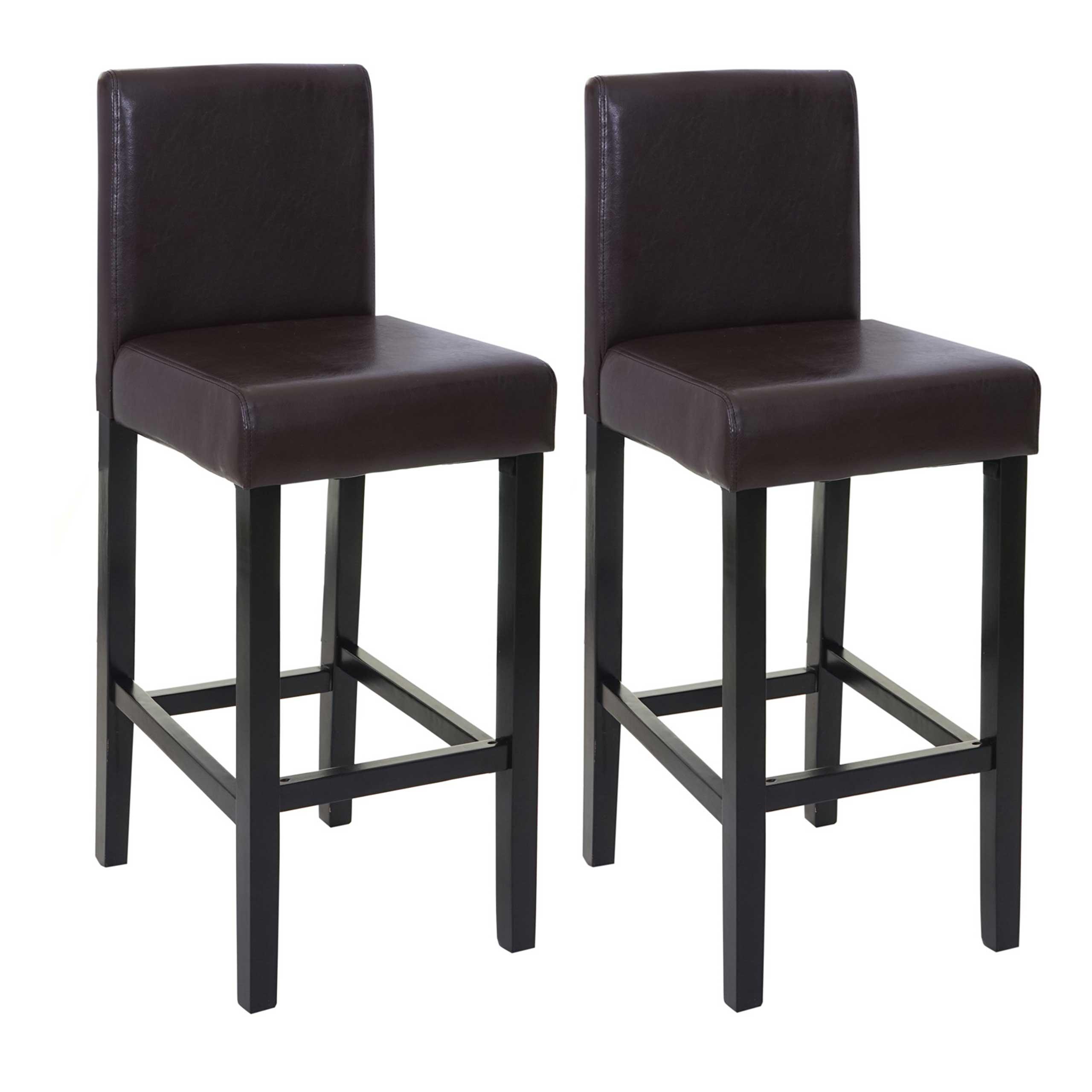 2x tresenhocker genk barstuhl barhocker kunstleder schwarz ebay. Black Bedroom Furniture Sets. Home Design Ideas