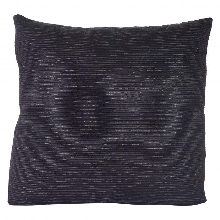 deko kissen schwarz sofakissen zierkissen mit f llung silber glanz effekt 42x42cm. Black Bedroom Furniture Sets. Home Design Ideas