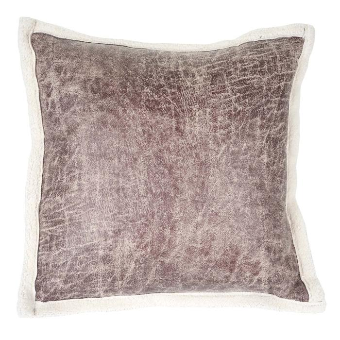 deko kissen wildlederimitat sofakissen zierkissen mit f llung braun fellimitat 45x45cm. Black Bedroom Furniture Sets. Home Design Ideas