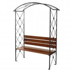rosenbogen mit bank tor oder t r. Black Bedroom Furniture Sets. Home Design Ideas