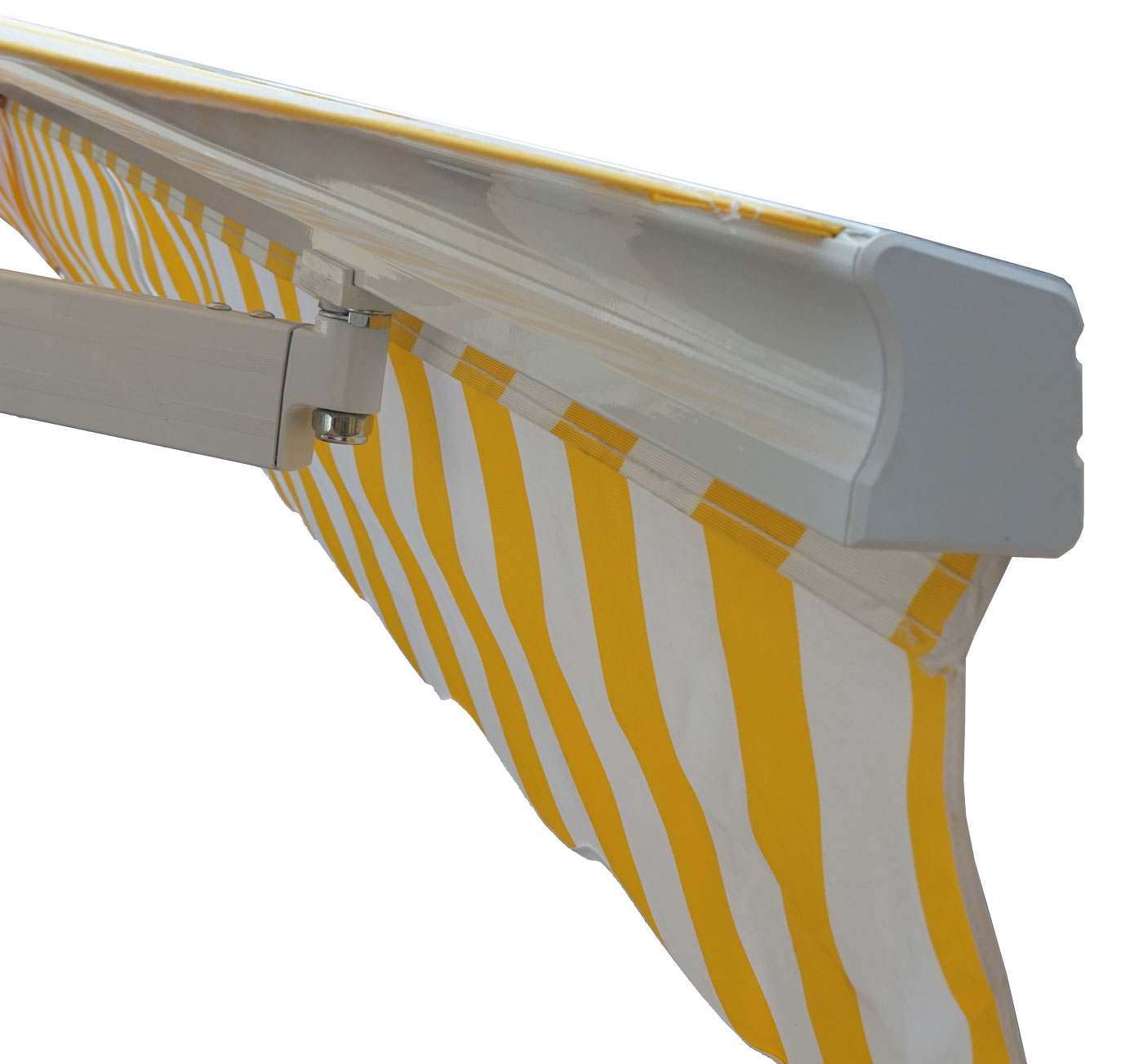 Polyester terrakotta Alu-Markise MCW-E31 Gelenkarmmarkise Sonnenschutz 3x2,5m