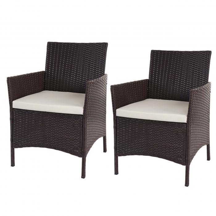 2x poly rattan gartensessel halden korbsessel braun. Black Bedroom Furniture Sets. Home Design Ideas