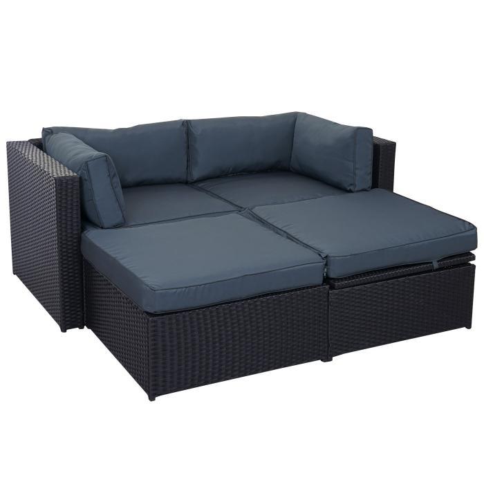 rattan lounge schwarz grau nauhuri rattan lounge schwarz. Black Bedroom Furniture Sets. Home Design Ideas