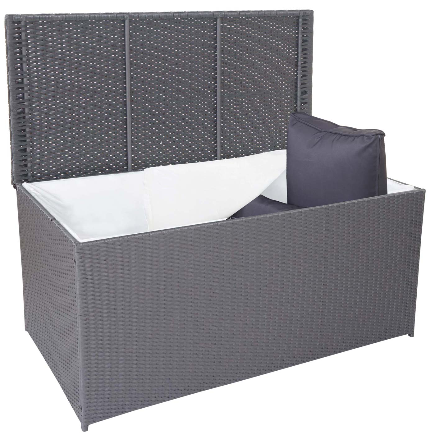poly rattan kissenbox bury truhe auflagenbox gartenbox. Black Bedroom Furniture Sets. Home Design Ideas