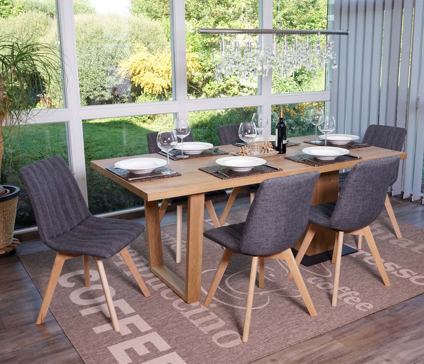 Set 6x sedie sala da pranzo calgary design anni 50 tessuto for Sedie design anni 90