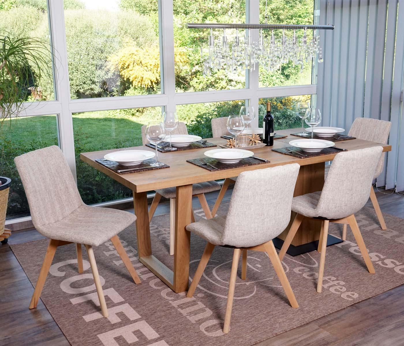 Set 6x sedie sala da pranzo calgary design anni 50 tessuto - Sedie pranzo design ...