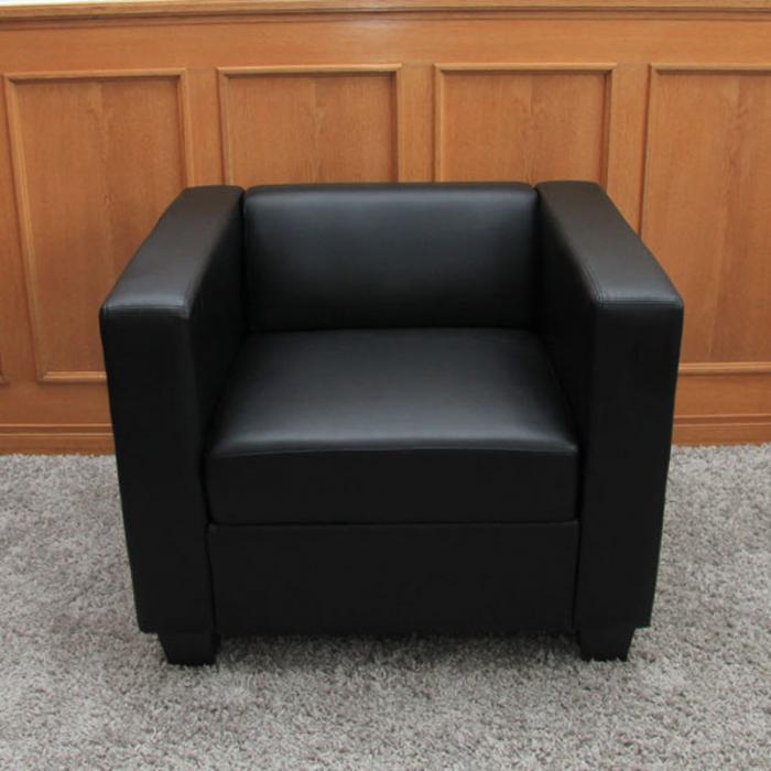 sessel loungesessel lille leder schwarz. Black Bedroom Furniture Sets. Home Design Ideas