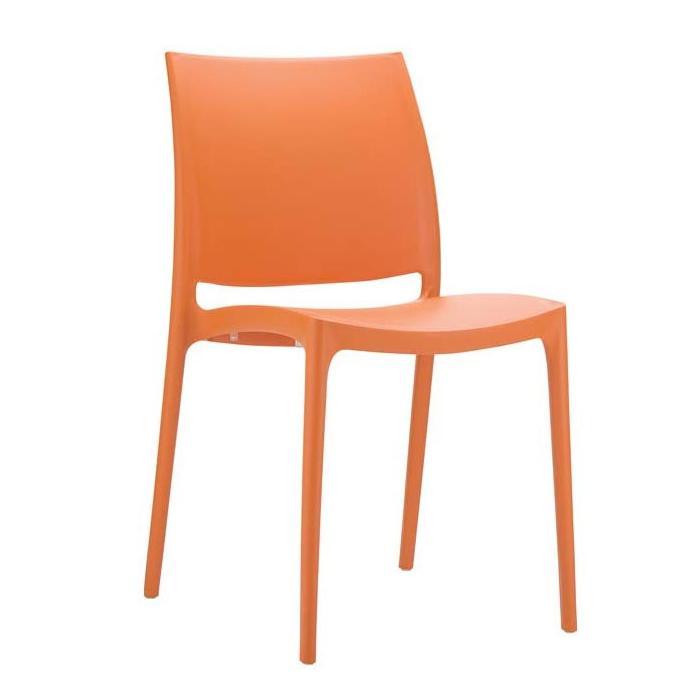 stapelstuhl bistrostuhl gartenstuhl kunststoff c44 orange. Black Bedroom Furniture Sets. Home Design Ideas