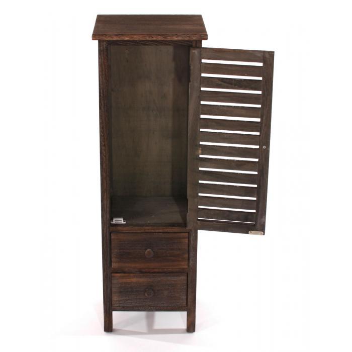 kommode schrank 90x30x25cm shabby look vintage braun. Black Bedroom Furniture Sets. Home Design Ideas