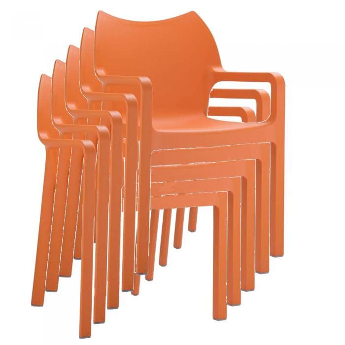 stapelstuhl bistrostuhl gartenstuhl kunststoff c43 orange. Black Bedroom Furniture Sets. Home Design Ideas