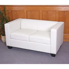 2er Sofa Couch Loungesofa Lille ~ Kunstleder, wei�