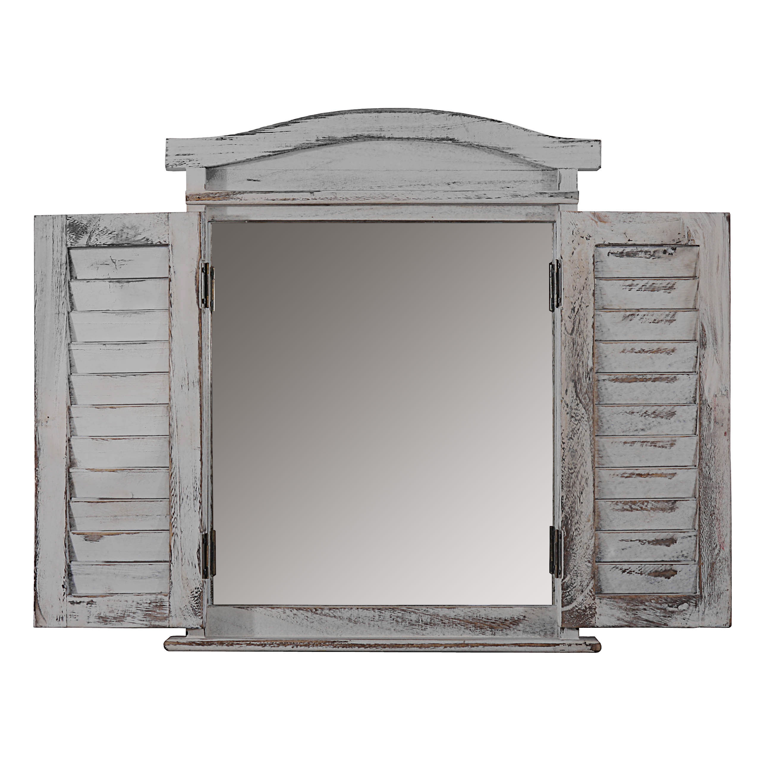 Wandspiegel spiegelfenster mit fensterl den 53x42x5cm for Spiegel nachrichten heute
