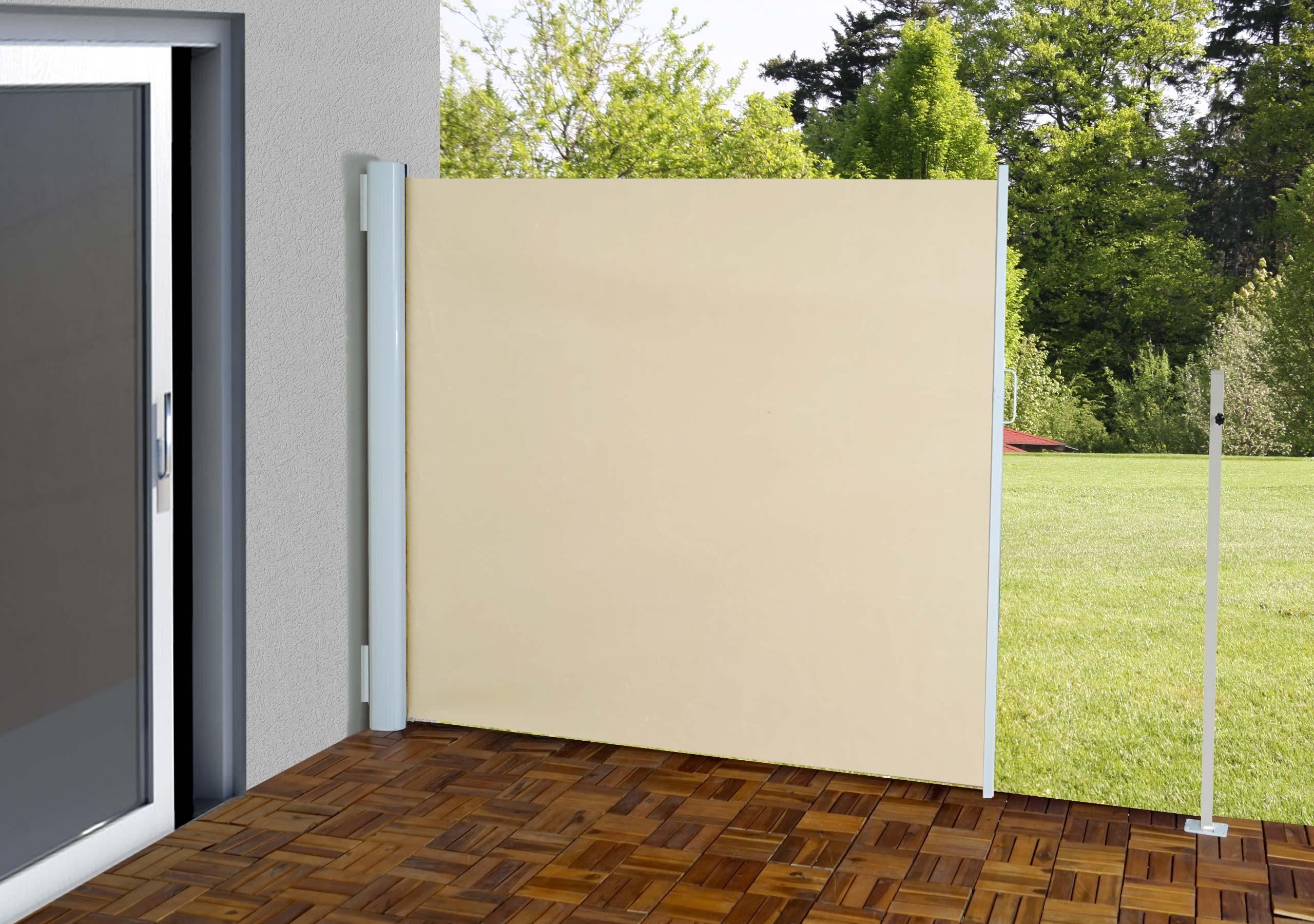 seitenmarkise t140 sichtschutz sonnenschutz windschutz alu 1 6x3m oder 1 8x3m. Black Bedroom Furniture Sets. Home Design Ideas