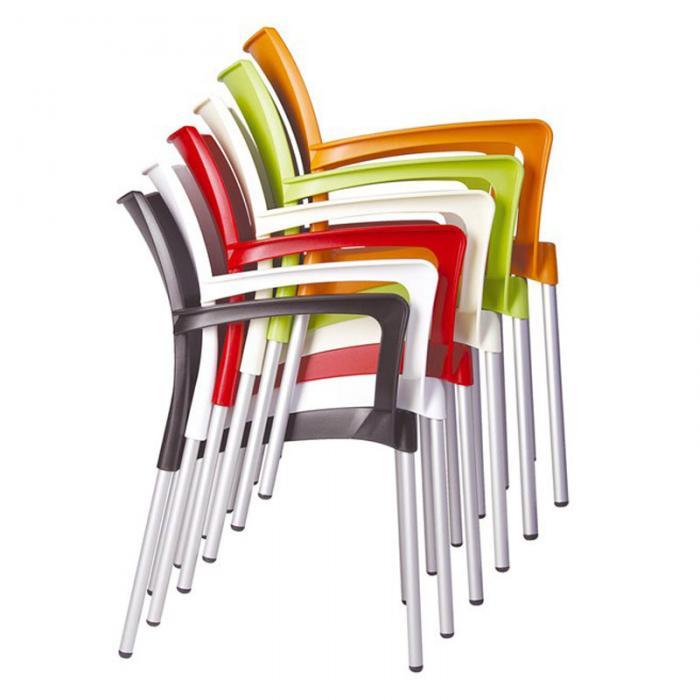 stapelstuhl bistrostuhl gartenstuhl kunststoff dolce gr n. Black Bedroom Furniture Sets. Home Design Ideas