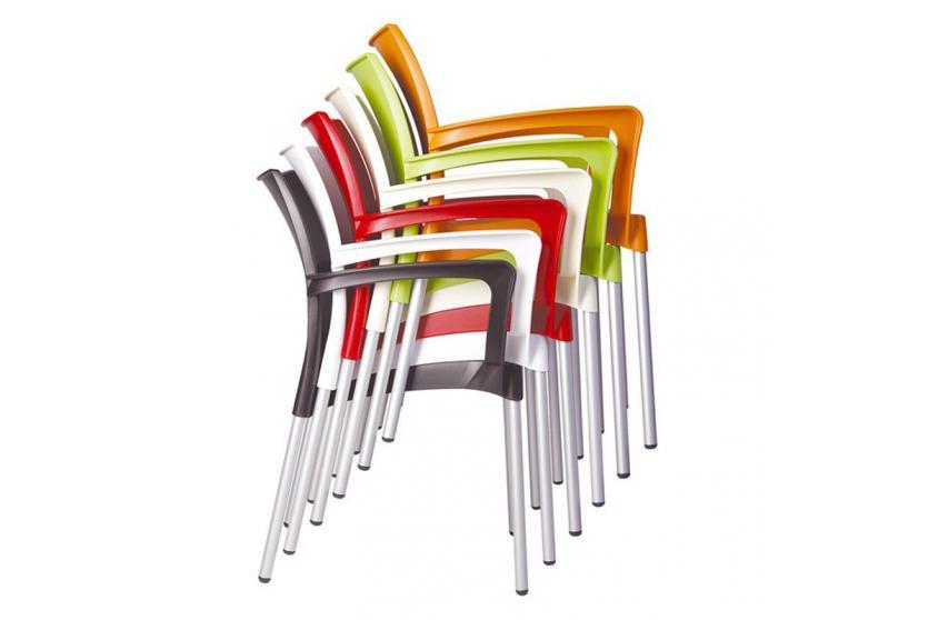 stapelstuhl bistrostuhl gartenstuhl kunststoff dolce rot. Black Bedroom Furniture Sets. Home Design Ideas