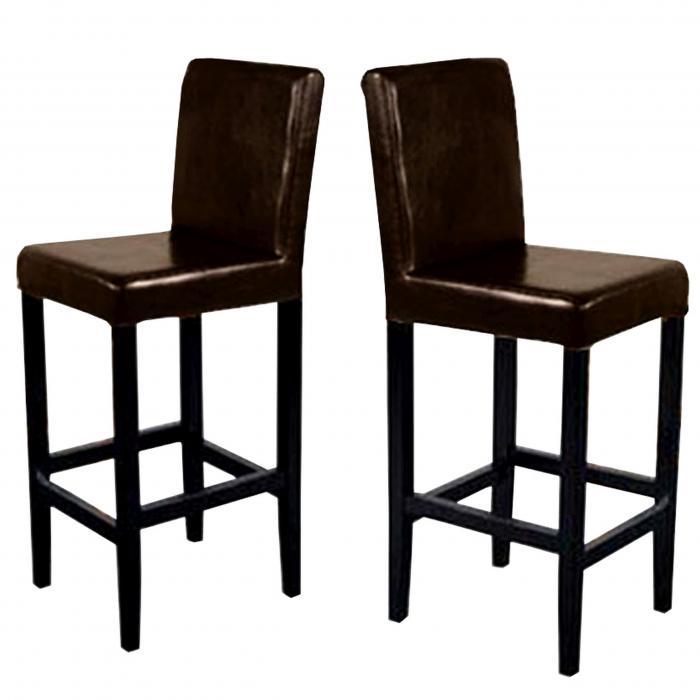 2x barhocker vicenza holz leder braun dunkle beine. Black Bedroom Furniture Sets. Home Design Ideas