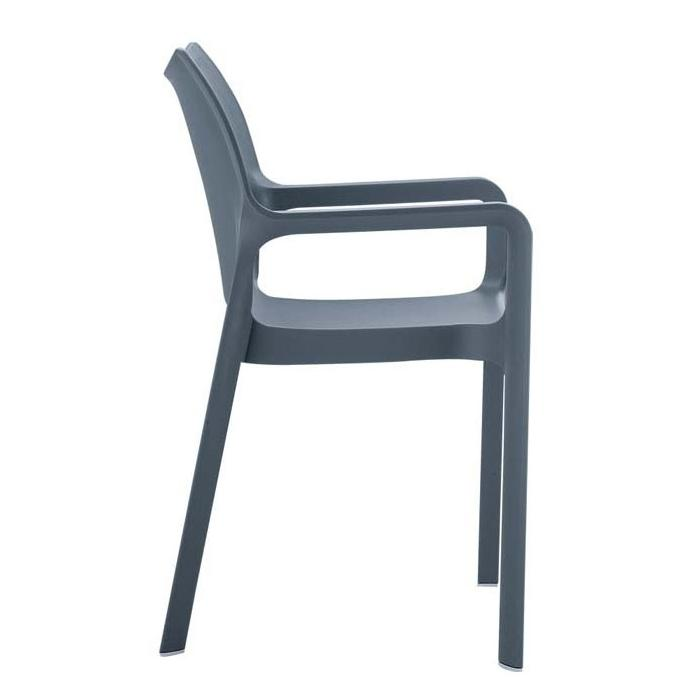 stapelstuhl bistrostuhl gartenstuhl kunststoff c43 hellgrau. Black Bedroom Furniture Sets. Home Design Ideas