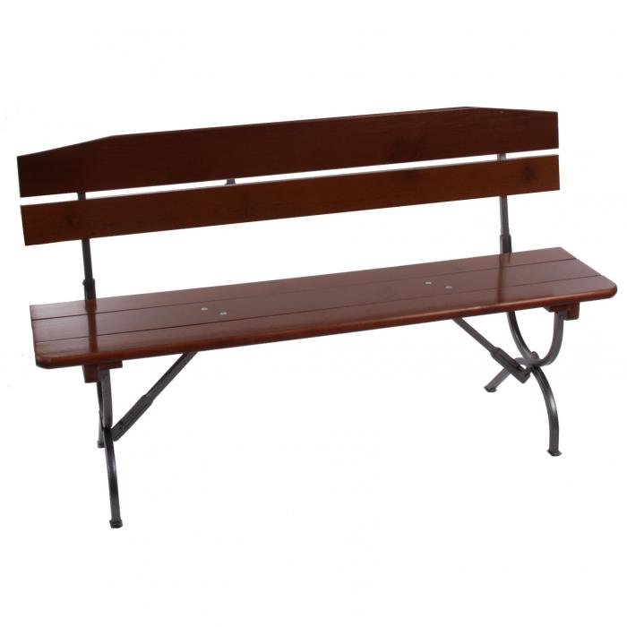2x bank mit lehne f r biertischgarnitur festzeltgarnitur linz 150 cm. Black Bedroom Furniture Sets. Home Design Ideas