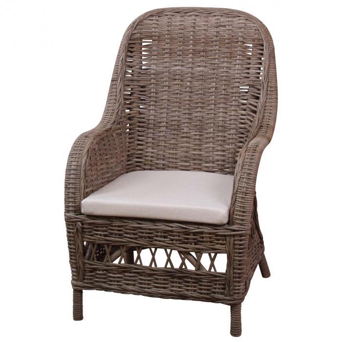 rattansessel h138 gartensessel gartenstuhl sessel kubu rattan inkl sitzkissen 97x64x74cm. Black Bedroom Furniture Sets. Home Design Ideas