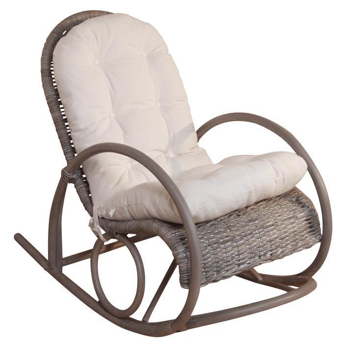schaukelstuhl h136 schwingsessel relaxsessel rattan inkl sitzkissen 100x60x116cm kubu rattan. Black Bedroom Furniture Sets. Home Design Ideas