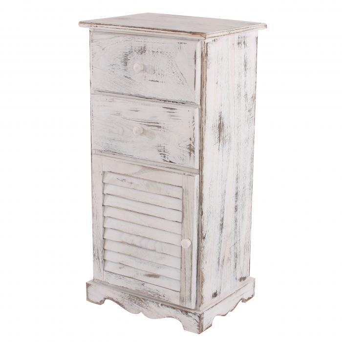 kommode schrank 81x40x32cm shabby look vintage wei. Black Bedroom Furniture Sets. Home Design Ideas