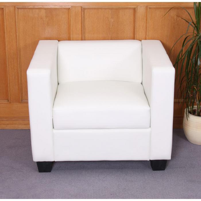 sessel loungesessel lille kunstleder wei. Black Bedroom Furniture Sets. Home Design Ideas