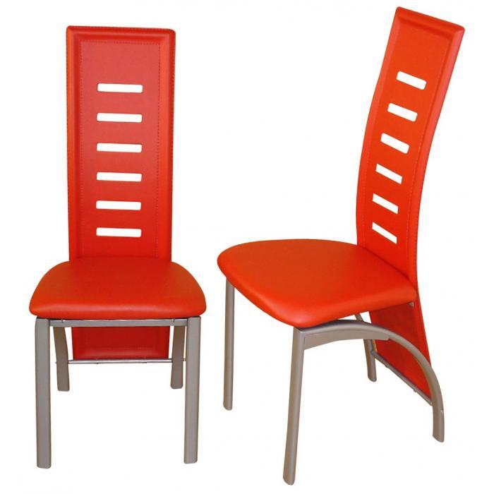 2x esszimmerstuhl h126 stuhl lehnstuhl kunstleder rot. Black Bedroom Furniture Sets. Home Design Ideas
