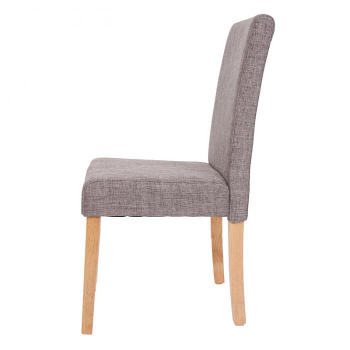 4x esszimmerstuhl stuhl lehnstuhl littau textil grau for Stuhl 4 beine