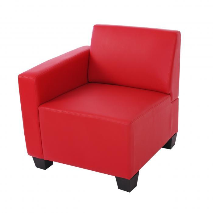 modular seitenteil links sessel mit armlehne lyon kunstleder rot. Black Bedroom Furniture Sets. Home Design Ideas