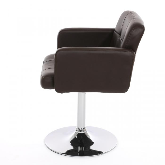 esszimmerstuhl drehstuhl stuhl orlando kunstleder chrom braun. Black Bedroom Furniture Sets. Home Design Ideas