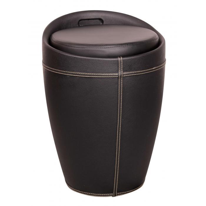 sitzhocker a080 hocker mit stauraum kunstleder schwarz. Black Bedroom Furniture Sets. Home Design Ideas