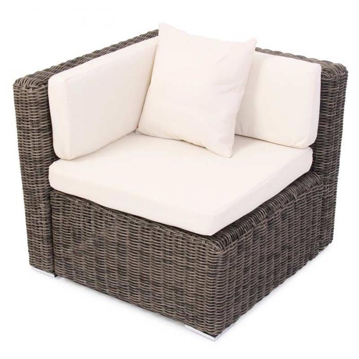 modulares poly rattan alu sofa romv naturgrau ecksofa. Black Bedroom Furniture Sets. Home Design Ideas