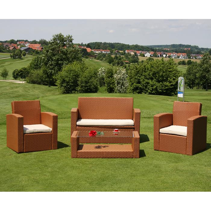 modulares garten sofa turin poly rattan rot braun sessel. Black Bedroom Furniture Sets. Home Design Ideas