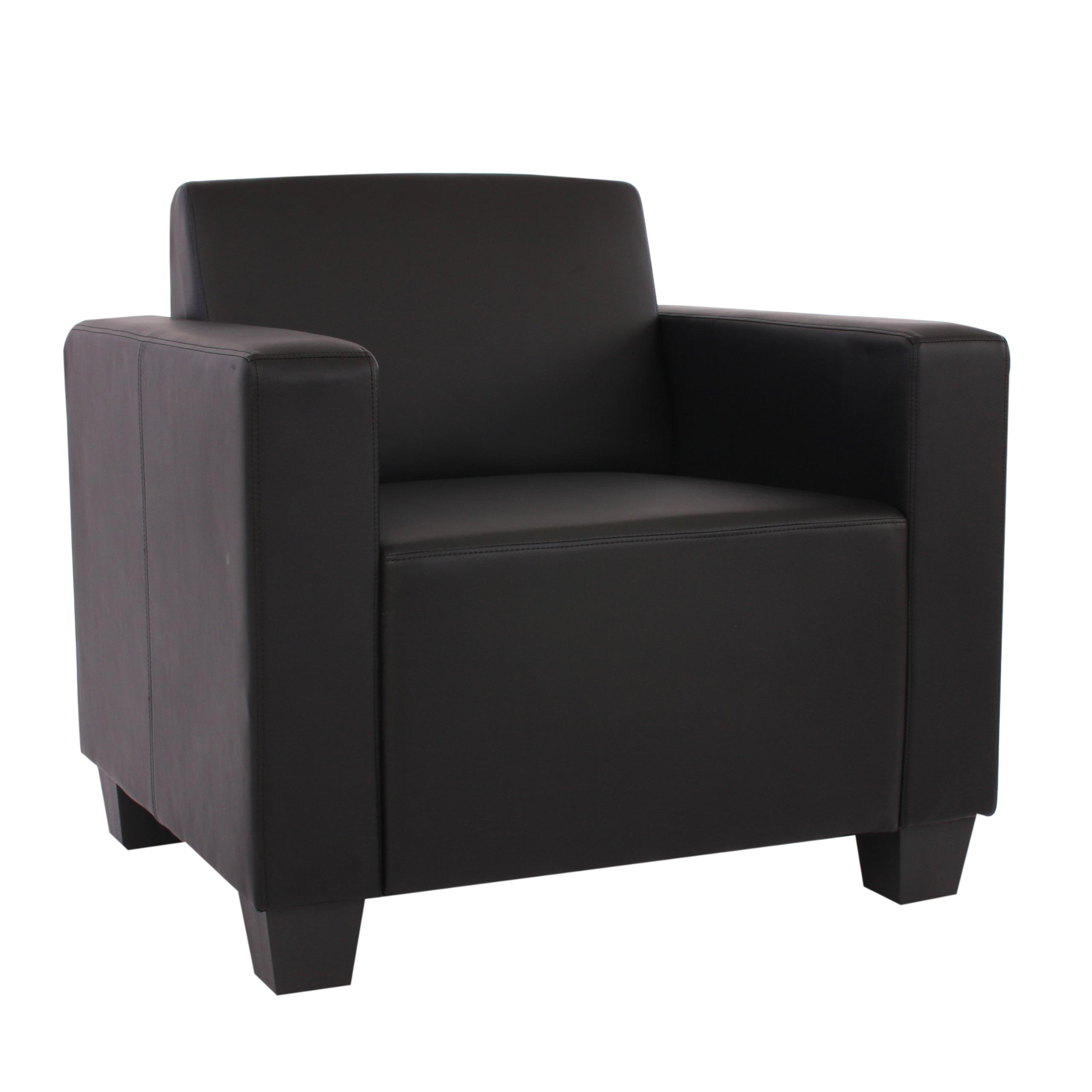 modular sofa lyon sessel kunstleder schwarz ebay. Black Bedroom Furniture Sets. Home Design Ideas