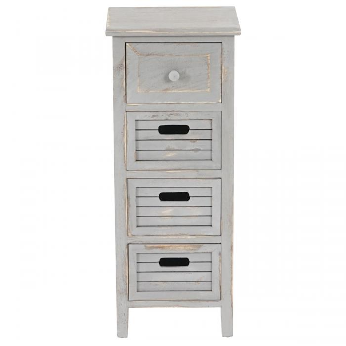 schrank kommode 74x30x25cm shabby look vintage grau. Black Bedroom Furniture Sets. Home Design Ideas