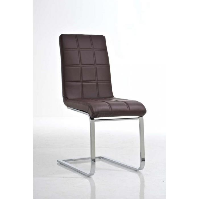 esszimmerstuhl freischwinger stuhl c03 kunstleder braun. Black Bedroom Furniture Sets. Home Design Ideas