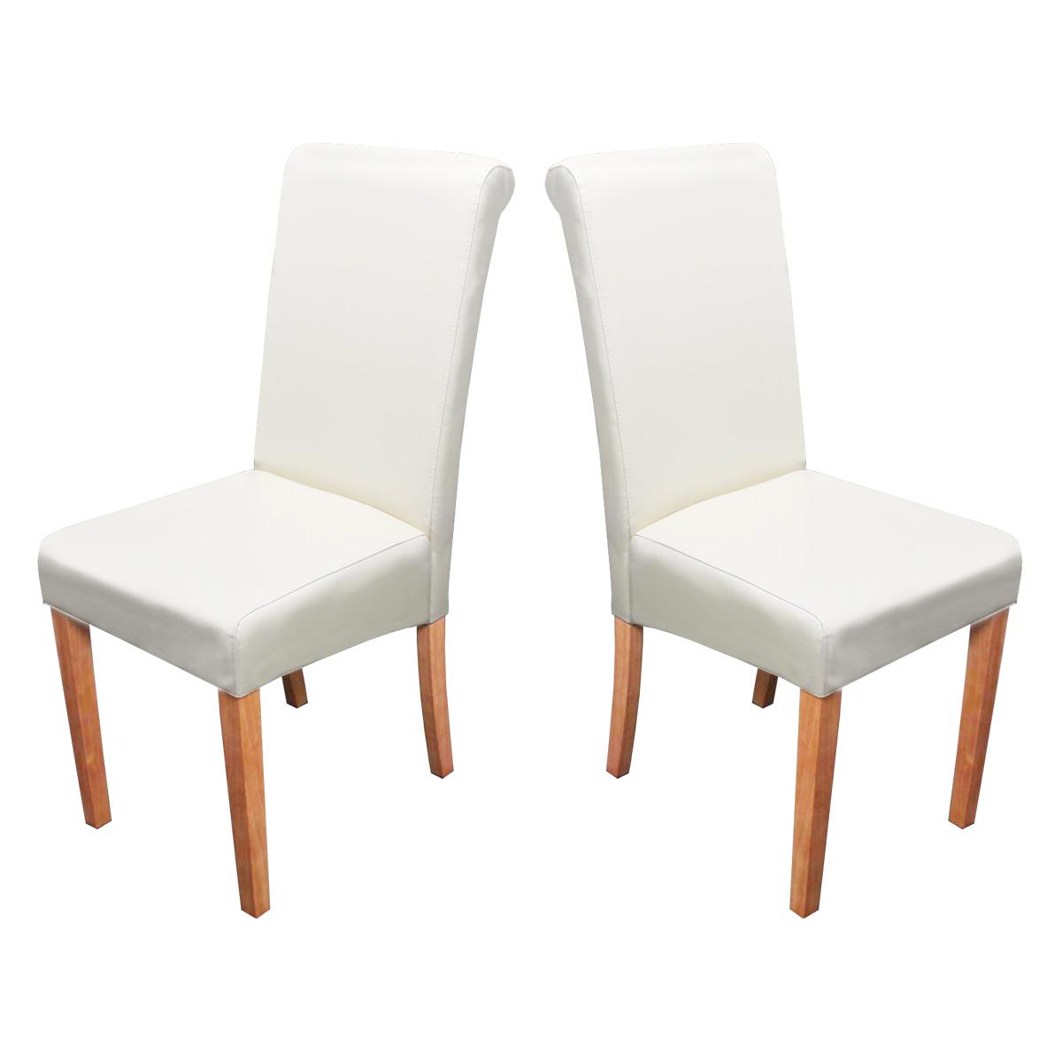 St hle weiss leder for Dunord design stuhl verona