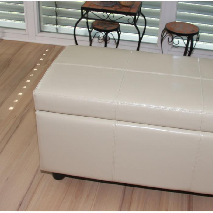 garnitur sitzgruppe bank mit aufbewahrung kriens xxl 4 st hle littau kunstleder leder creme. Black Bedroom Furniture Sets. Home Design Ideas