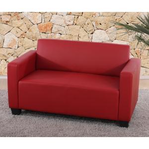 modular 2er sofa couch lyon loungesofa kunstleder rot. Black Bedroom Furniture Sets. Home Design Ideas