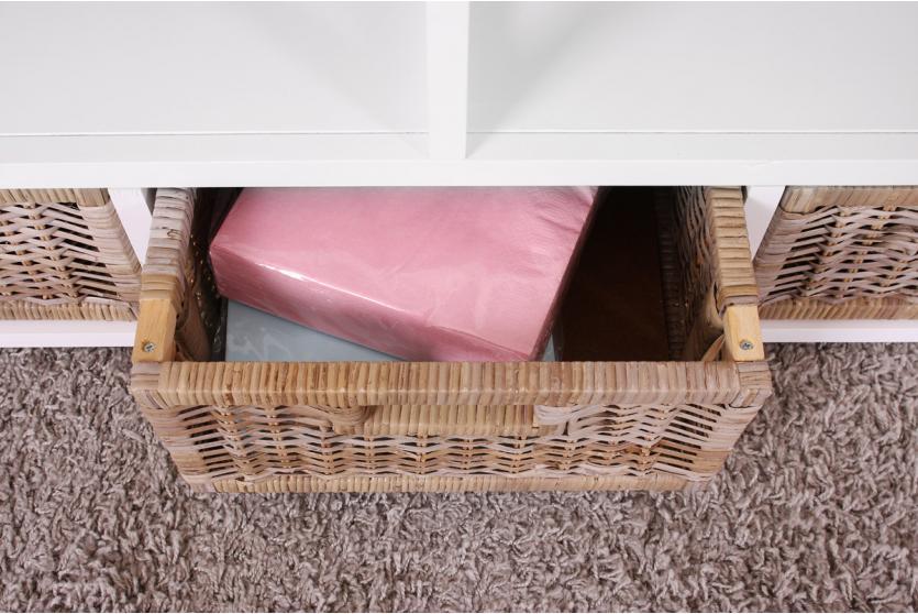 tv rack lowboard television table wood rattan alabama. Black Bedroom Furniture Sets. Home Design Ideas