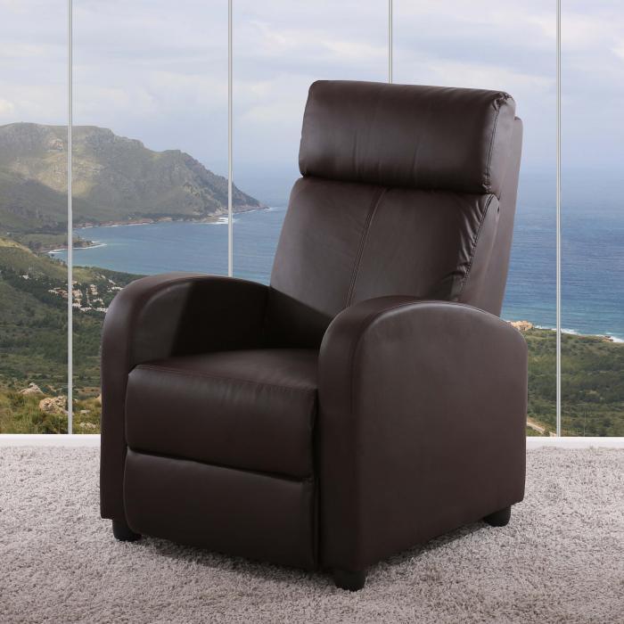 fernsehsessel relaxsessel liege sessel denver kunstleder braun. Black Bedroom Furniture Sets. Home Design Ideas