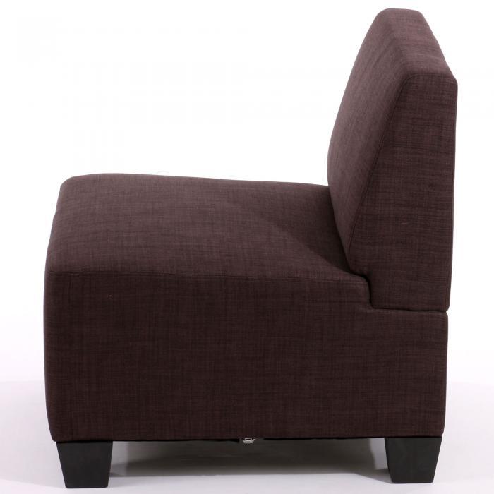 Modular sessel ohne armlehnen mittelteil lyon textil braun for Sessel textil