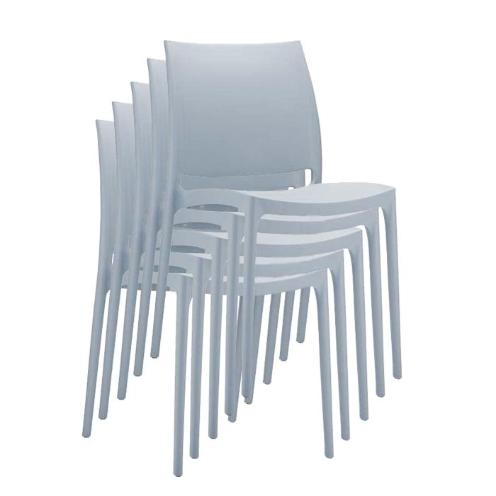 stapelstuhl bistrostuhl gartenstuhl kunststoff c44 hellgrau. Black Bedroom Furniture Sets. Home Design Ideas