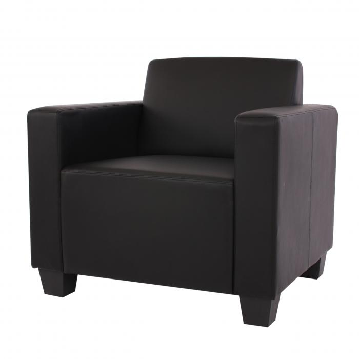 sessel loungesessel lyon kunstleder schwarz. Black Bedroom Furniture Sets. Home Design Ideas