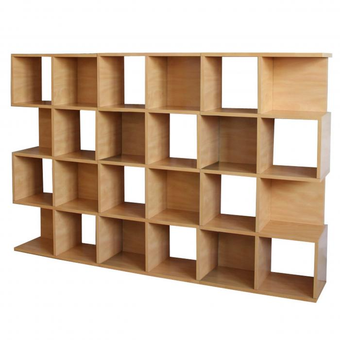 3x modul regal standregal m73 124x187x28 cm natur. Black Bedroom Furniture Sets. Home Design Ideas
