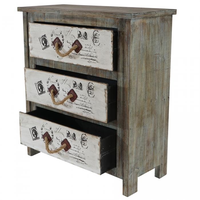 kommode almada schubladenkommode schrank shabby look. Black Bedroom Furniture Sets. Home Design Ideas