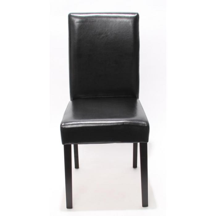 4x esszimmerstuhl stuhl lehnstuhl littau leder schwarz for Stuhl 4 beine