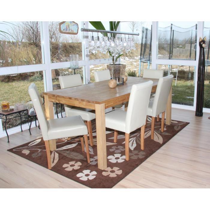 6x esszimmerstuhl stuhl lehnstuhl littau leder creme helle beine. Black Bedroom Furniture Sets. Home Design Ideas